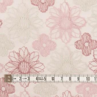 コットン×フラワー(モーブ)×オーガンジー刺繍_全4色 サムネイル4