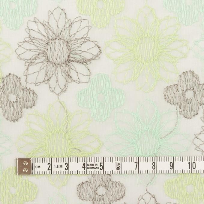 コットン×フラワー(ミント)×オーガンジー刺繍_全4色 イメージ4