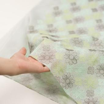 コットン×フラワー(ミント)×オーガンジー刺繍_全4色 サムネイル5