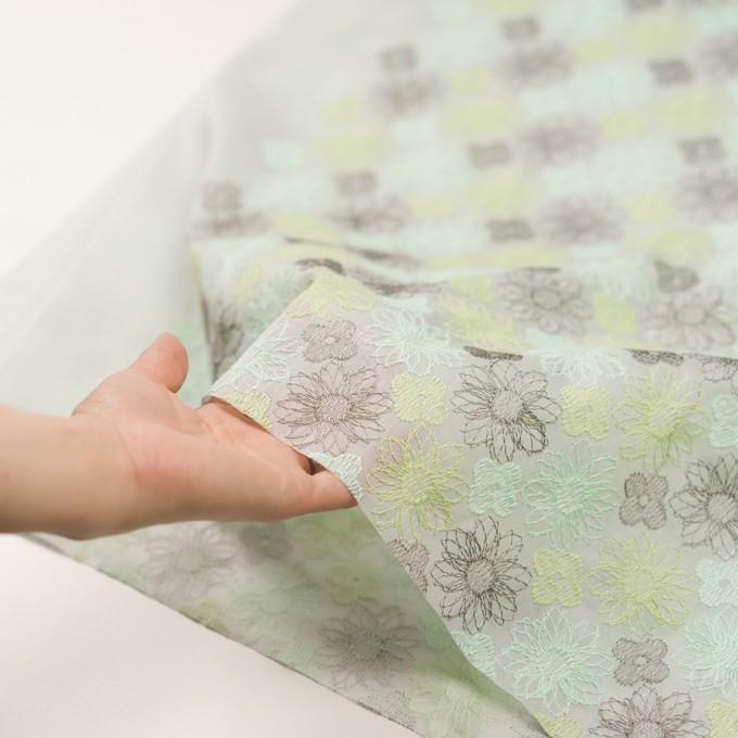 コットン×フラワー(ミント)×オーガンジー刺繍_全4色 イメージ5