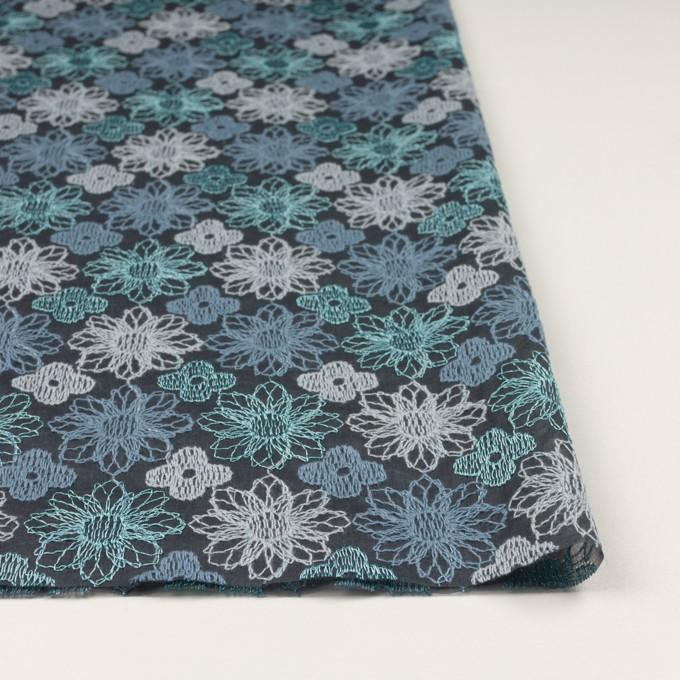 コットン×フラワー(ブルーグレー)×オーガンジー刺繍_全4色 イメージ3