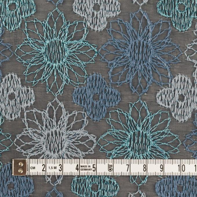 コットン×フラワー(ブルーグレー)×オーガンジー刺繍_全4色 イメージ4