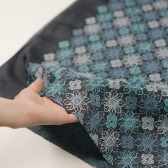 コットン×フラワー(ブルーグレー)×オーガンジー刺繍_全4色 サムネイル5