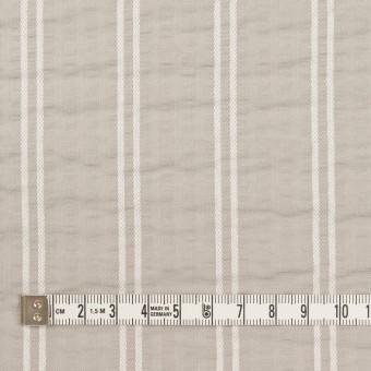 コットン&ポリエステル混×ストライプ(オイスター&ホワイト)×サッカー_全3色 サムネイル4
