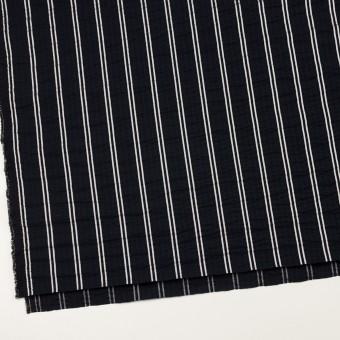 コットン&ポリエステル混×ストライプ(ブラック&ホワイト)×サッカー_全3色 サムネイル2