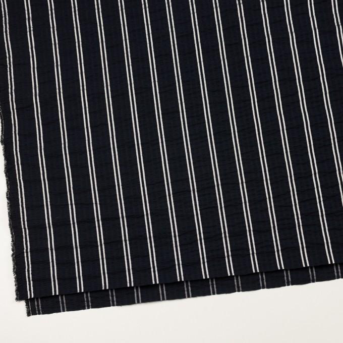 コットン&ポリエステル混×ストライプ(ブラック&ホワイト)×サッカー_全3色 イメージ2
