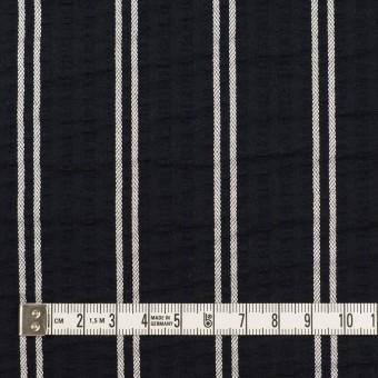 コットン&ポリエステル混×ストライプ(ブラック&ホワイト)×サッカー_全3色 サムネイル4