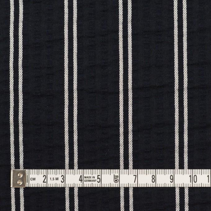 コットン&ポリエステル混×ストライプ(ブラック&ホワイト)×サッカー_全3色 イメージ4