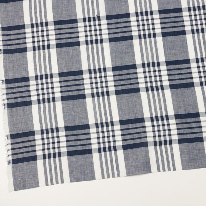 コットン&リネン×チェック(ネイビー)×ローン_全3色 イメージ2