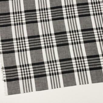 コットン&リネン×チェック(ブラック)×ローン_全3色 サムネイル2