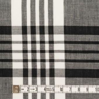 コットン&リネン×チェック(ブラック)×ローン_全3色 サムネイル4