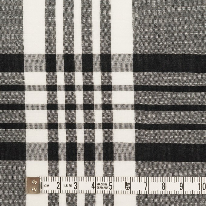 コットン&リネン×チェック(ブラック)×ローン_全3色 イメージ4