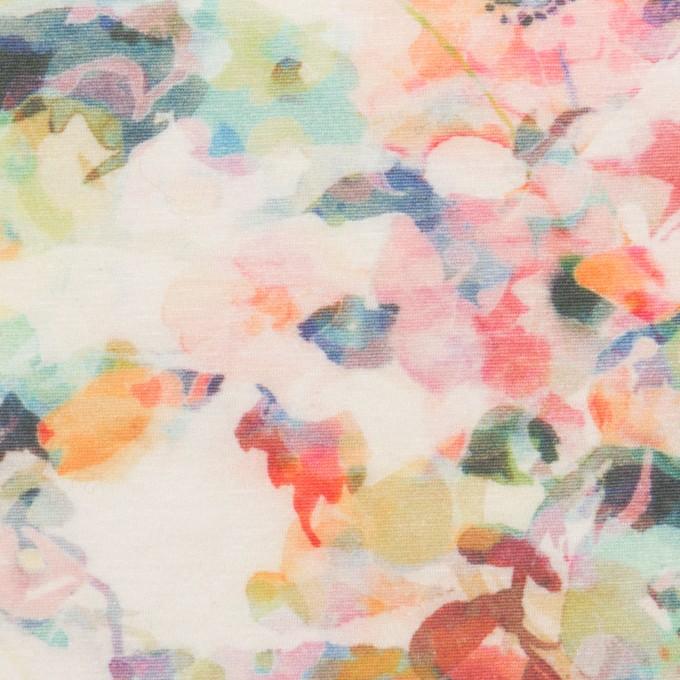 コットン×フラワー(ピンク)×天竺ニット_全3色 イメージ1