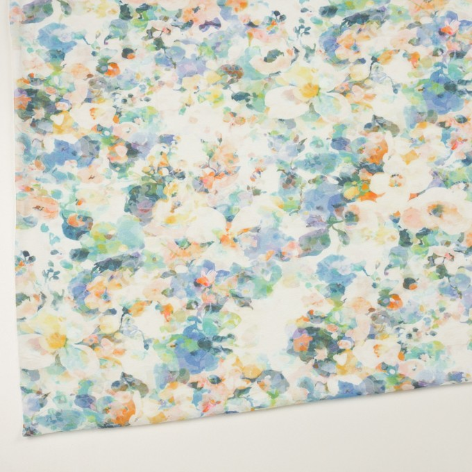 コットン×フラワー(ブルー)×天竺ニット_全3色 イメージ2