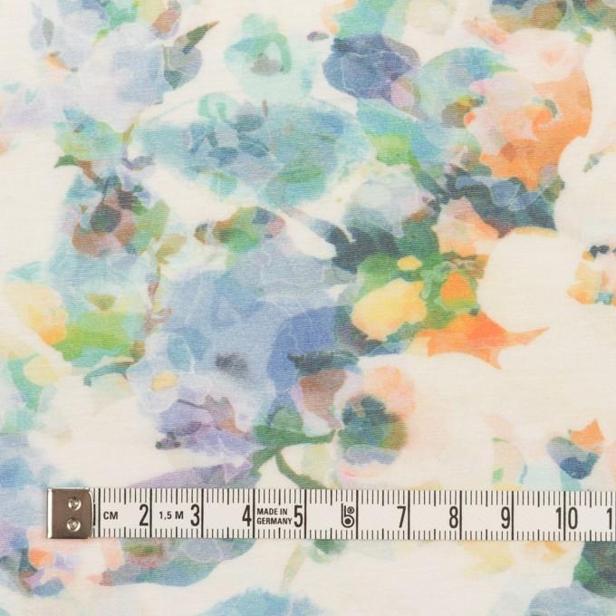 コットン×フラワー(ブルー)×天竺ニット_全3色 イメージ4