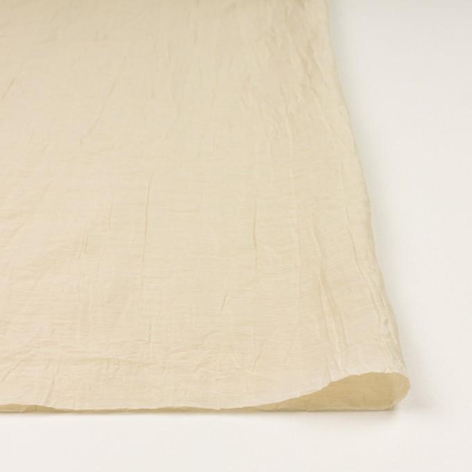 コットン&ナイロン×無地(ベージュ)×オーガンジー・ワッシャー_全3色 イメージ3