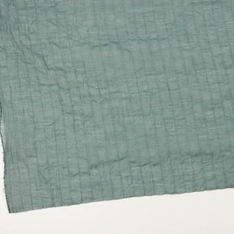 コットン&シルク混×ストライプ(シーグリーン)×オーガンジー・ワッシャー サムネイル2