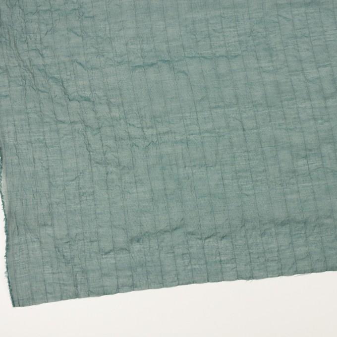 コットン&シルク混×ストライプ(シーグリーン)×オーガンジー・ワッシャー イメージ2