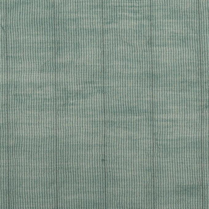 コットン&シルク混×ストライプ(シーグリーン)×オーガンジー・ワッシャー イメージ1
