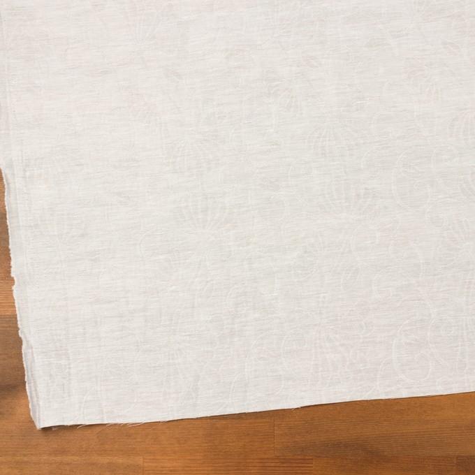 リネン&ナイロン×フラワー(オフホワイト)×オーガンジー・ジャガード_全3色 イメージ2