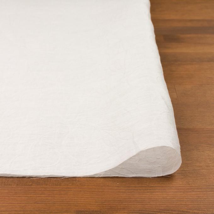 リネン&ナイロン×フラワー(オフホワイト)×オーガンジー・ジャガード_全3色 イメージ3