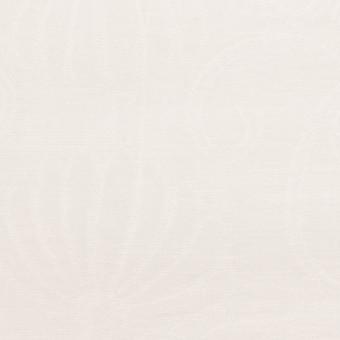 リネン&ナイロン×フラワー(オフホワイト)×オーガンジー・ジャガード_全3色