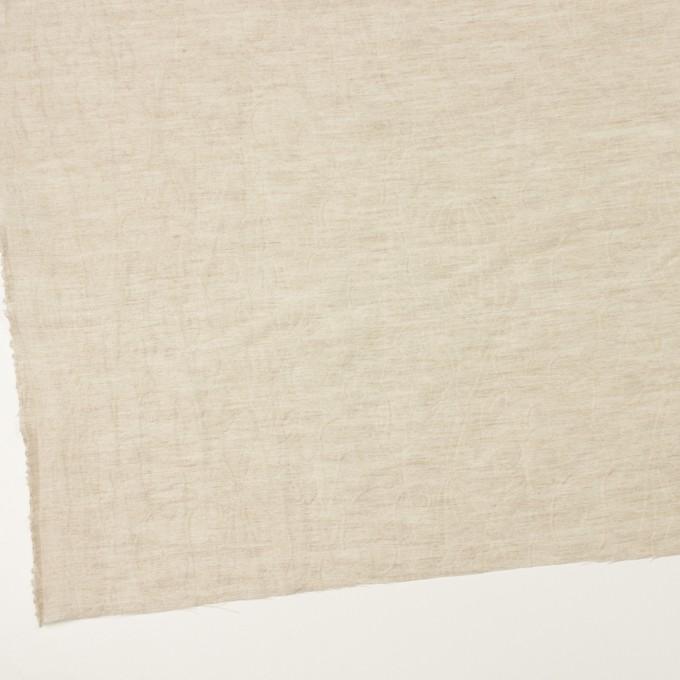リネン&ナイロン×フラワー(グレイッシュベージュ)×オーガンジー・ジャガード_全3色 イメージ2