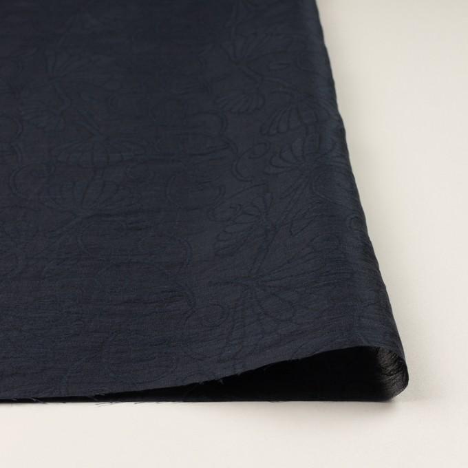 リネン&ナイロン×フラワー(ネイビー)×オーガンジー・ジャガード_全3色 イメージ3