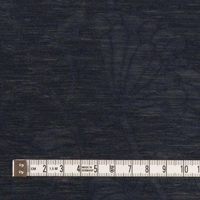 リネン&ナイロン×フラワー(ネイビー)×オーガンジー・ジャガード_全3色 イメージ4