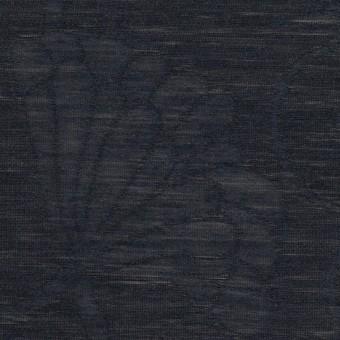 リネン&ナイロン×フラワー(ネイビー)×オーガンジー・ジャガード_全3色