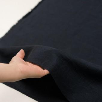 リネン&ナイロン×フラワー(ネイビー)×オーガンジー・ジャガード_全3色 サムネイル5