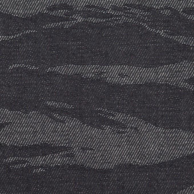 コットン×迷彩(インディゴ)×デニムジャガード(8oz) イメージ1