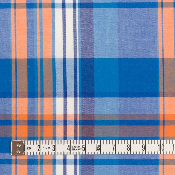 コットン×チェック(ブルー&オレンジ)×ブロード イメージ4