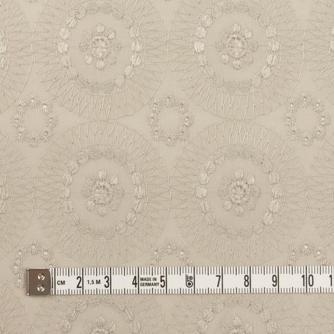 コットン×フラワー(グレイッシュベージュ)×ローン刺繍_全6色 イメージ4