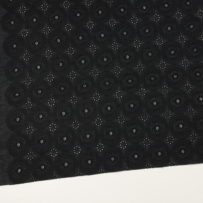 コットン×フラワー(ブラック)×ローン刺繍_全6色 イメージ2