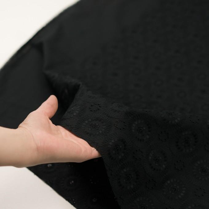 コットン×フラワー(ブラック)×ローン刺繍_全6色 イメージ5