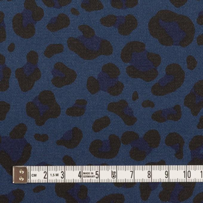 コットン&ポリウレタン×レオパード(ネイビー)×チノクロス・ストレッチ イメージ4