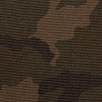 コットン&ポリウレタン×迷彩(カーキブラウン)×チノクロス・ストレッチ_全3色 サムネイル1