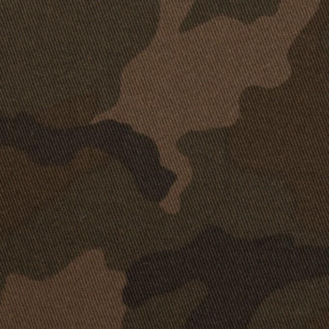 コットン&ポリウレタン×迷彩(カーキブラウン)×チノクロス・ストレッチ_全3色 イメージ1