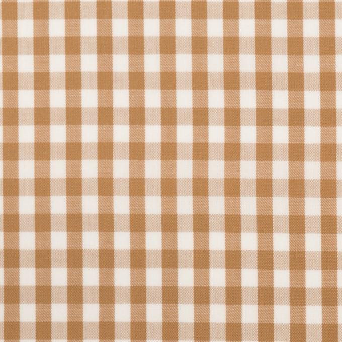 コットン×チェック(モカ)×ブロード_全3色 イメージ1