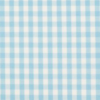 コットン×チェック(サックス)×ブロード_全3色 サムネイル1