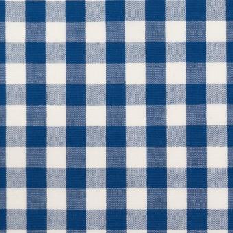 コットン×チェック(ブルー)×ブロード