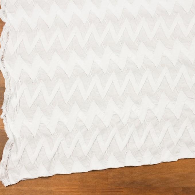 コットン×ウェーブ(ホワイト)×ジャガードニット イメージ2