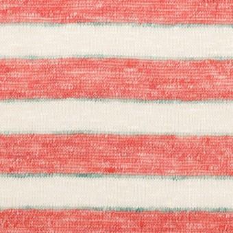 リネン×ボーダー(レッド)×天竺ニット_全2色 サムネイル1