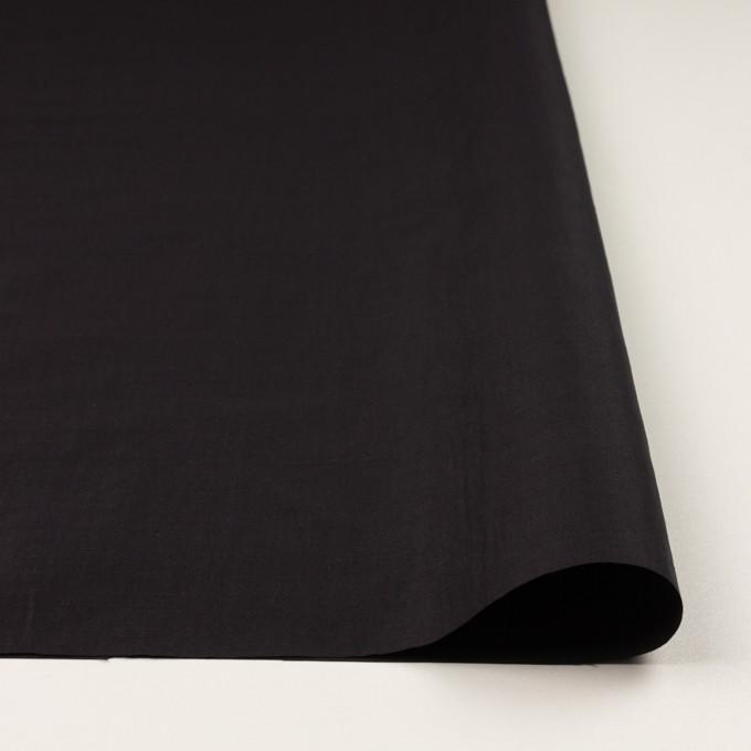 ラミー&ナイロン×無地(ブラック)×ポプリン イメージ3