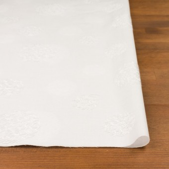 コットン×サークル(ホワイト)×ローン刺繍_全4色 サムネイル3