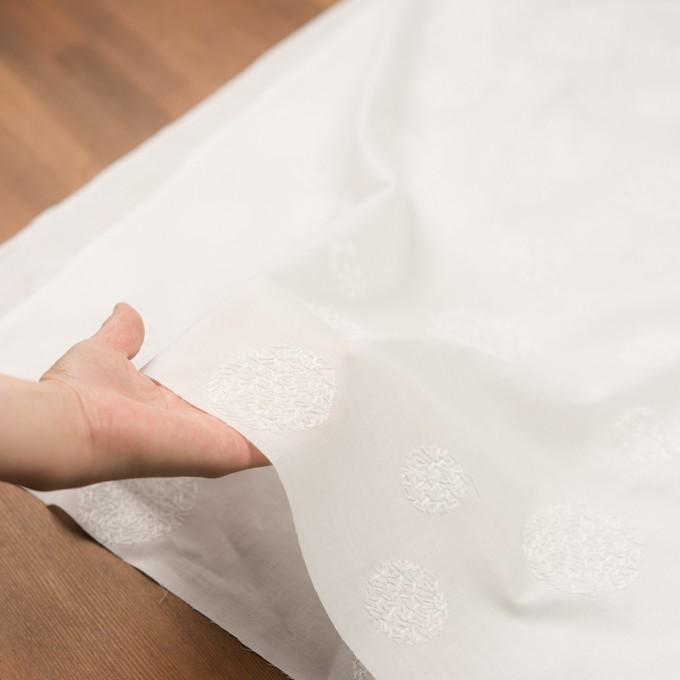 コットン×サークル(ホワイト)×ローン刺繍_全4色 イメージ5