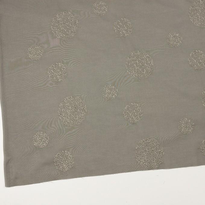 コットン×サークル(モスグレー)×ローン刺繍_全4色 イメージ2