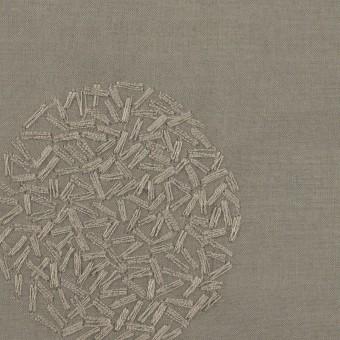 コットン×サークル(モスグレー)×ローン刺繍_全4色 サムネイル1
