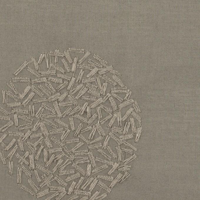 コットン×サークル(モスグレー)×ローン刺繍_全4色 イメージ1